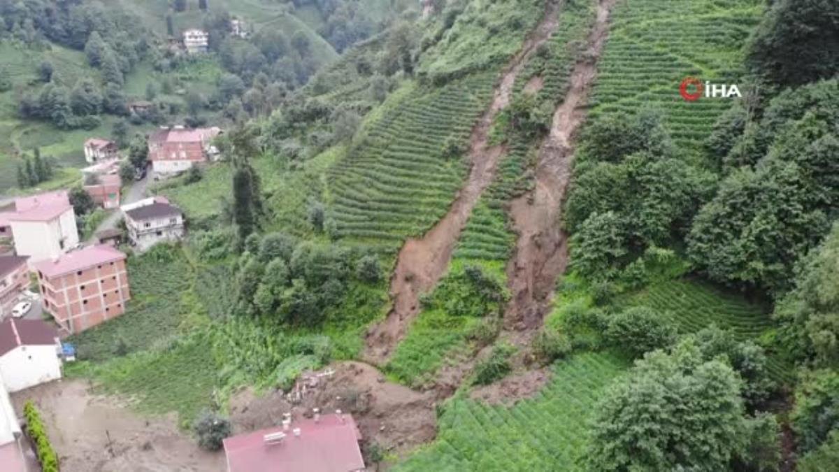 Rize'de şiddetli yağışlar etkili oldu, bazı evler önlem için tahliye edildi